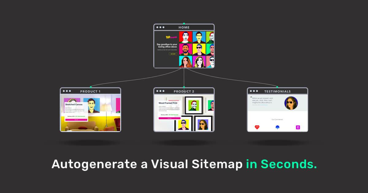 VisualSitemaps | Autogenerate Beautiful Sitemaps & Screenshots